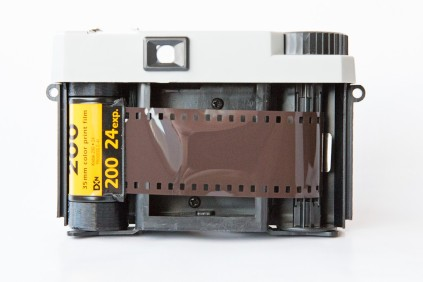 The FPP Plastic Filmtastic 120 Debonair loaded with Kodak Gold 200