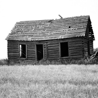Abandoned Farmhouse in Bancroft, Idaho, USA