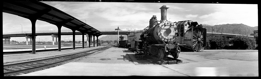The steam locomotive is No. 223, an 1881 Grant loco currently under restoration at Ogden's Union Station. Photo by Maurice Greeson.