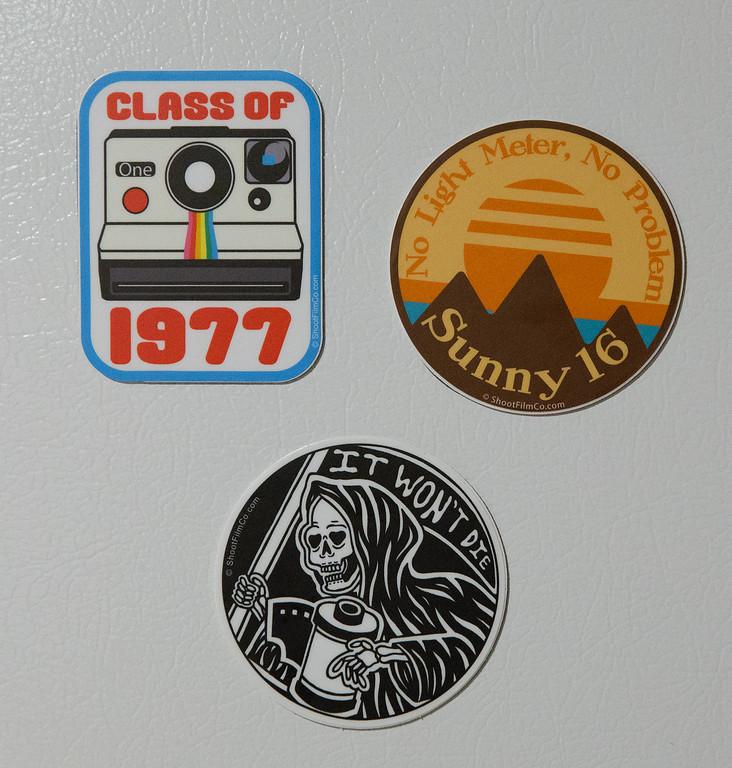 ShootFilmCo.Com Vinyl Stickers - Made Into Magnets