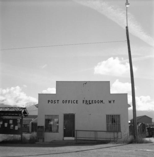 Kodak Brownie Hawkeye Flash - Post Office, Freedom, WY