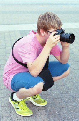 Connor and his Minolta Maxxum 3Xi from the Film Photography Project