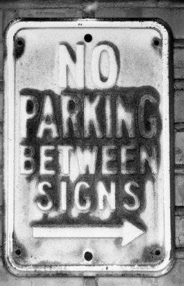 Ogden Union Station - No Parking Between Signs