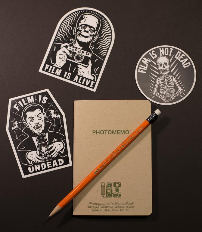 ShootFilmCo.com - PhotoMemo Photographer's Memo Book & Vinyl Stickers