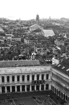 St. Mark's Square with Santo Stefano in the Distance, Venice, Italy. Camera: Pentax K1000 (1976 - 1997). Film: Ilford Delta 100 Professional.