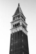 St. Mark's Campanile, Venice, Italy. Camera: Pentax K1000 (1976 - 1997). Film: Ilford Delta 100 Professional.