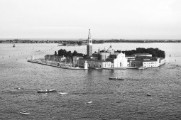 Church of San Giorgio Maggiore, Venice, Italy. Camera: Pentax K1000 (1976 - 1997). Film: Ilford Delta 100 Professional.