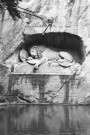 Lion Monument, Lucerne, Switzerland. Camera: Pentax K1000 (1976 - 1997). Film: Ilford Delta 100 Professional.