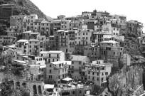 Manarola, Cinque Terre, Italy. Camera: Pentax K1000 (1976 - 1997). Film: Ilford Delta 100 Professional.