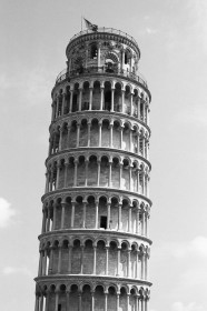 Leaning Tower of Pisa, Italy. Camera: Pentax K1000 (1976 - 1997). Film: Ilford Delta 100 Professional.