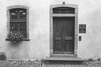 Riquewihr Police Station, France. Camera: Pentax K1000 (1976 - 1997). Film: Ilford Delta 100 Professional.