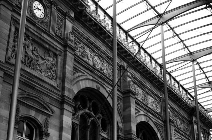 Strasbourg Train Station, Strasbourg, France. Camera: Pentax K1000 (1976 - 1997) Film: Ilford Delta 100 Professional.