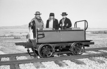 The Speeder Crew at Golden Spike National Historic Site - Corinne, UT. Yashica Electro 35 GS (1970 - 1973). Film: Kosmo Foto 100.
