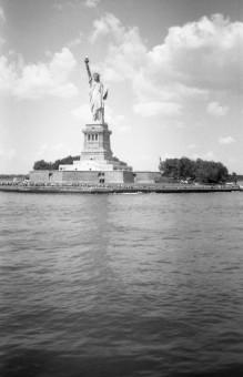 Liberty Island - NY (Olympus XA - Kodak TMax 100)