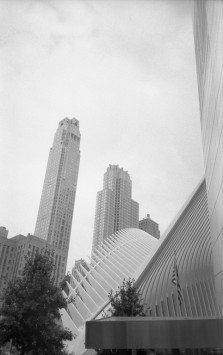911 Museum & The Oculus - New York (Olympus XA - Kodak Tri-X 400)