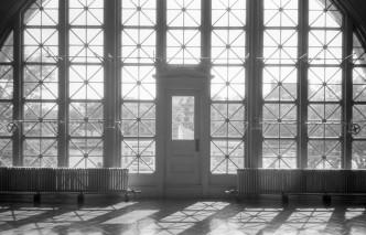 Ellis Island Immigrant Building - NY (Olympus XA - Kodak Tri-X 400)