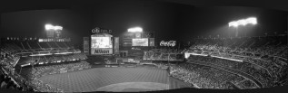 Citi Field - Mets Baseball - Queens, NY - 4 Images Stitched (Uncropped) (Olympus XA - Kodak Tri-X 400)