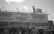 Nathan's at Coney Island Cyclone - Brooklyn, NY (Olymmpus XA - Kodak TMax 100)