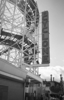 Coney Island Cyclone - Brooklyn, NY (Olymmpus XA - Kodak TMax 100)