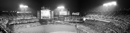Citi Field - Mets Baseball - Queens, NY - 4 Images Stitched (Cropped) (Olympus XA - Kodak Tri-X 400)