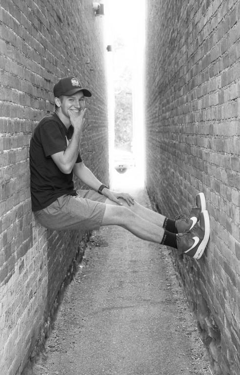 Caleb in the Alley - Brigham City, Utah