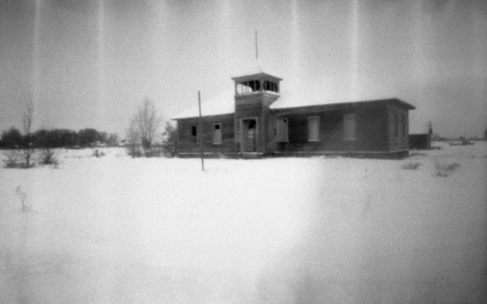 Bromide drag on a photo taken with the Ondu 135 Pocket Pinhole and developed in FPP Super Monobath