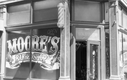 Moore's Barber Shop - 25th Street, Ogden, Utah.