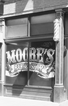 Moore's Barber Shop - 25th Street, Ogden, Utah.