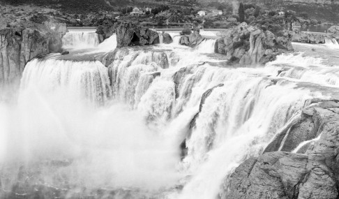 Panoramic of Shoshone Falls - Twin Falls, Idaho.