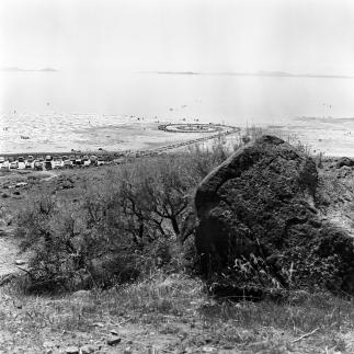 Robert Smithson's Spiral Jetty - Utah.