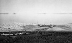 Robert Smithson's Spiral Jetty, Utah.