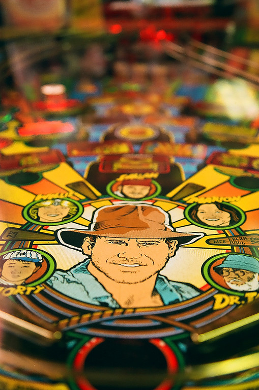 Indiana Jones Pinball at Flynn's Retrocade - Roy, Utah
